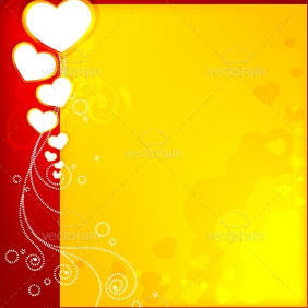 Abstract Valentine Card - vector gratuit #212477