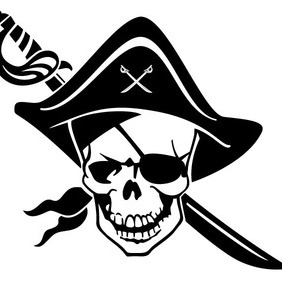 One-eyed Pirate Vector - vector #212527 gratis
