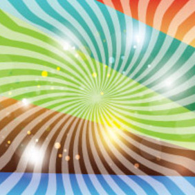 Abstract Hunderd Line Colored Vector - Free vector #212597
