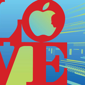 Love Steve Jobs - Free vector #212707