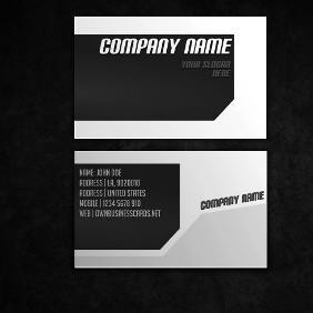 Clean Business Card Template - vector gratuit #212747