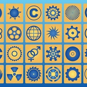 Circle Icons - vector gratuit #212787