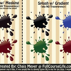 Splash Vector Pack - vector gratuit #212797