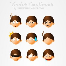 Vector Smiley Icons - vector #212857 gratis