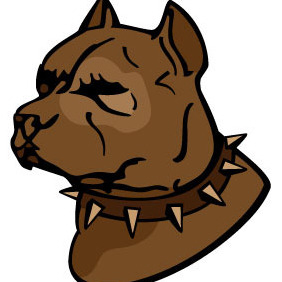 Pit Bull Vector - Free vector #213047