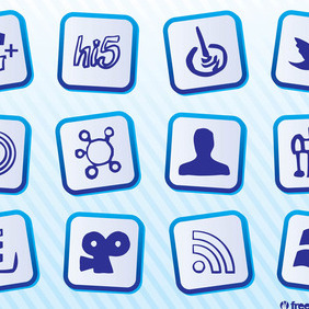 Free Social Media Icons - vector gratuit #213137