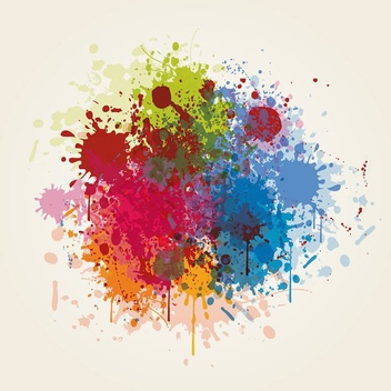 Splashed Colors - Free vector #213167