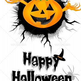 Halloween Invitation - vector gratuit #213207