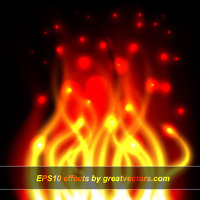 Realistic Fire Render - Free vector #213277