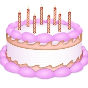 Birthday Cake - Free vector #213357