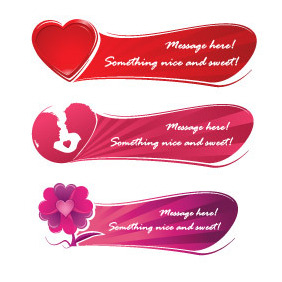 Sweet Love Banner - vector gratuit #213387