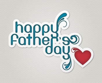Happy Fathers Day - vector gratuit #213407