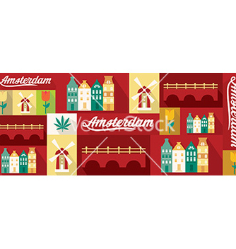 Free travel and tourism design elements amsterdam vector - бесплатный vector #213467