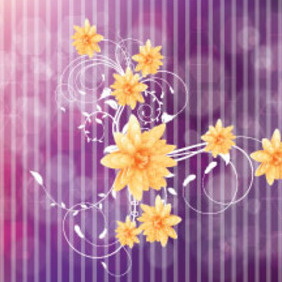 The Orange Flowers Free Vector Graphic - Free vector #213497