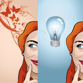 Creative Woman - Free vector #213847
