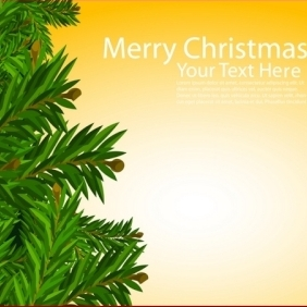 Christmas Card With Tree - Free vector #213877