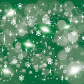Greeny Retro Stars Vector Background - vector gratuit #213937