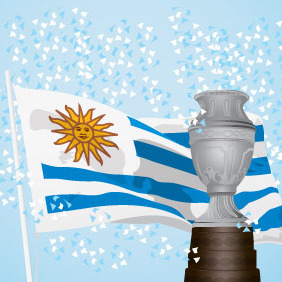 Uruguay Champion Of America - Free vector #213987