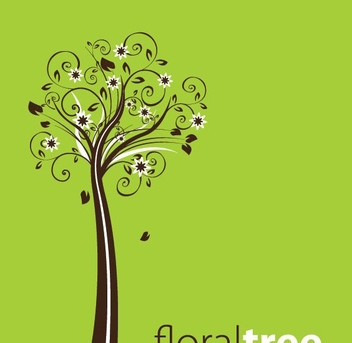 Floral Tree - vector gratuit #214147