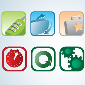 Two By Four Icon Set - бесплатный vector #214177