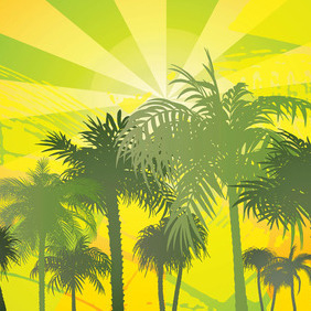 Palm Tree - Free vector #214237