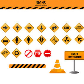 Signs Vector Set - Free vector #214297