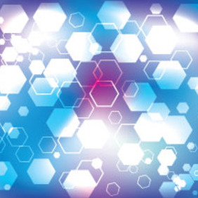 Blue And Purple Hexagonal Vector Background - Free vector #214307