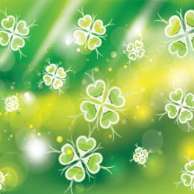 Wonderful Green Flowers Free Vector Graphic - Free vector #214377
