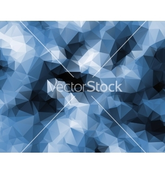 Free polygonal abstract blue vector - Free vector #214437