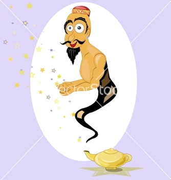 Free magic lamp vector - Kostenloses vector #214557
