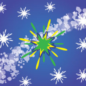 Ornament Design In Blue Bubbled Background - Free vector #214677