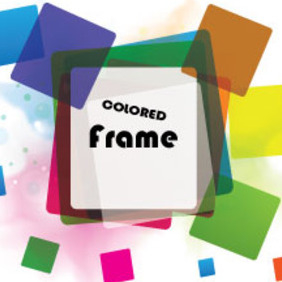 Colorful Frame Vector In Colorful Vector Graphic - vector gratuit #214717