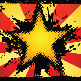 Grunge Star Vector - Free vector #214787