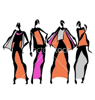 Free beautiful woman silhouette vector - vector gratuit #214837