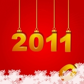 New Year Card - vector gratuit #214917
