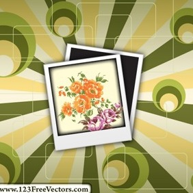 Polaroid On Retro Background Vector - vector gratuit #214927