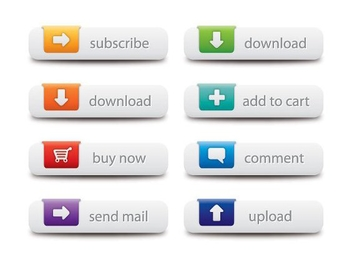 Web Buttons - Free vector #215107