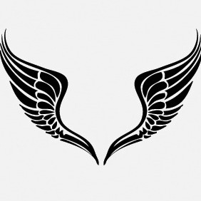 Free Tribal Wing Vector - vector gratuit #215117