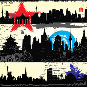 Grunge City Graphics - vector gratuit #215177