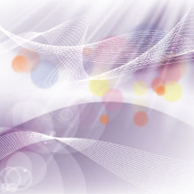 Abstract Gris Background With Colored Blur Bubbles - Free vector #215197