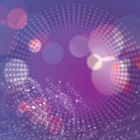 Abstract White Circle In Blue Purple Vector - vector #215227 gratis