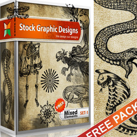 Mixed Elements Free Vector Pack-1 - vector gratuit #215257