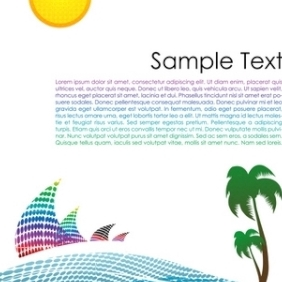 Colorful Landscape - vector gratuit #215527