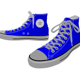 Sneakers Vector Art - Kostenloses vector #215637