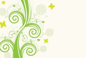 Green Floral Design - vector gratuit #215797