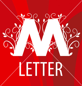 Free logo the letter m with vegetable patterns vector - Kostenloses vector #215887