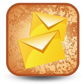 Grunge E-mail Button - бесплатный vector #215957