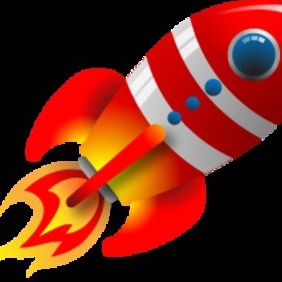 Vector Retro Rocket - Free vector #216057