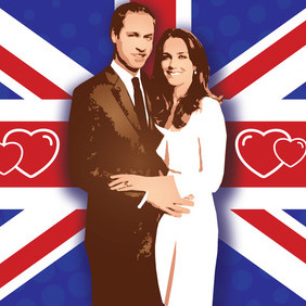William Kate Wedding Vector - vector #216167 gratis