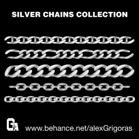 Silver Chains - vector #216187 gratis